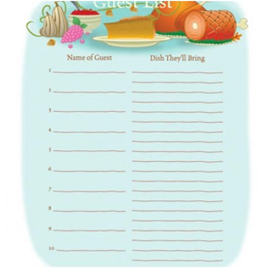 Irresistible image for thanksgiving potluck sign up sheet printable